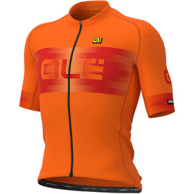 Alé Cycling Graphics PRR Scalata Jersey Korte Mouwen Heren, fluo orange/masai red